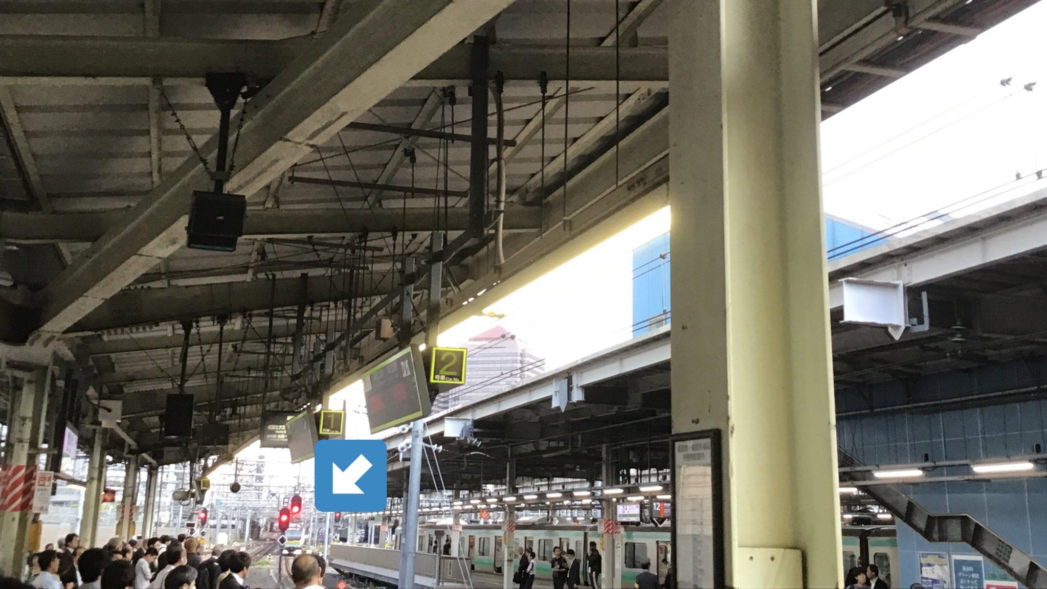 東海道線の品川駅付近で人身事故の現場画像