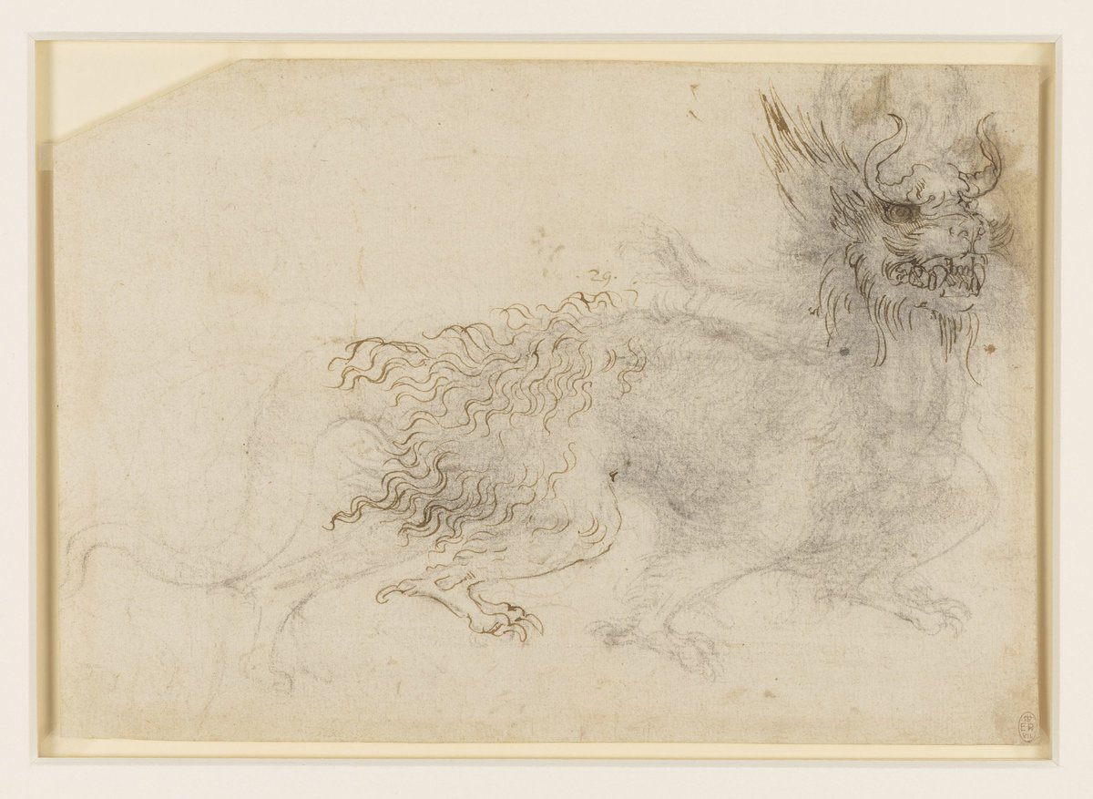 Did you know that Leonardo designed theatrical costumes, as well as extraordinary machines? This playful dragon was probably designed by the artist c. 1517-8, as an instruction for the seamstresses of the French royal court.  https:// bit.ly/2vRhVzi  &nbsp;   #playmw #museumweek<br>http://pic.twitter.com/EDzNzNYc8J