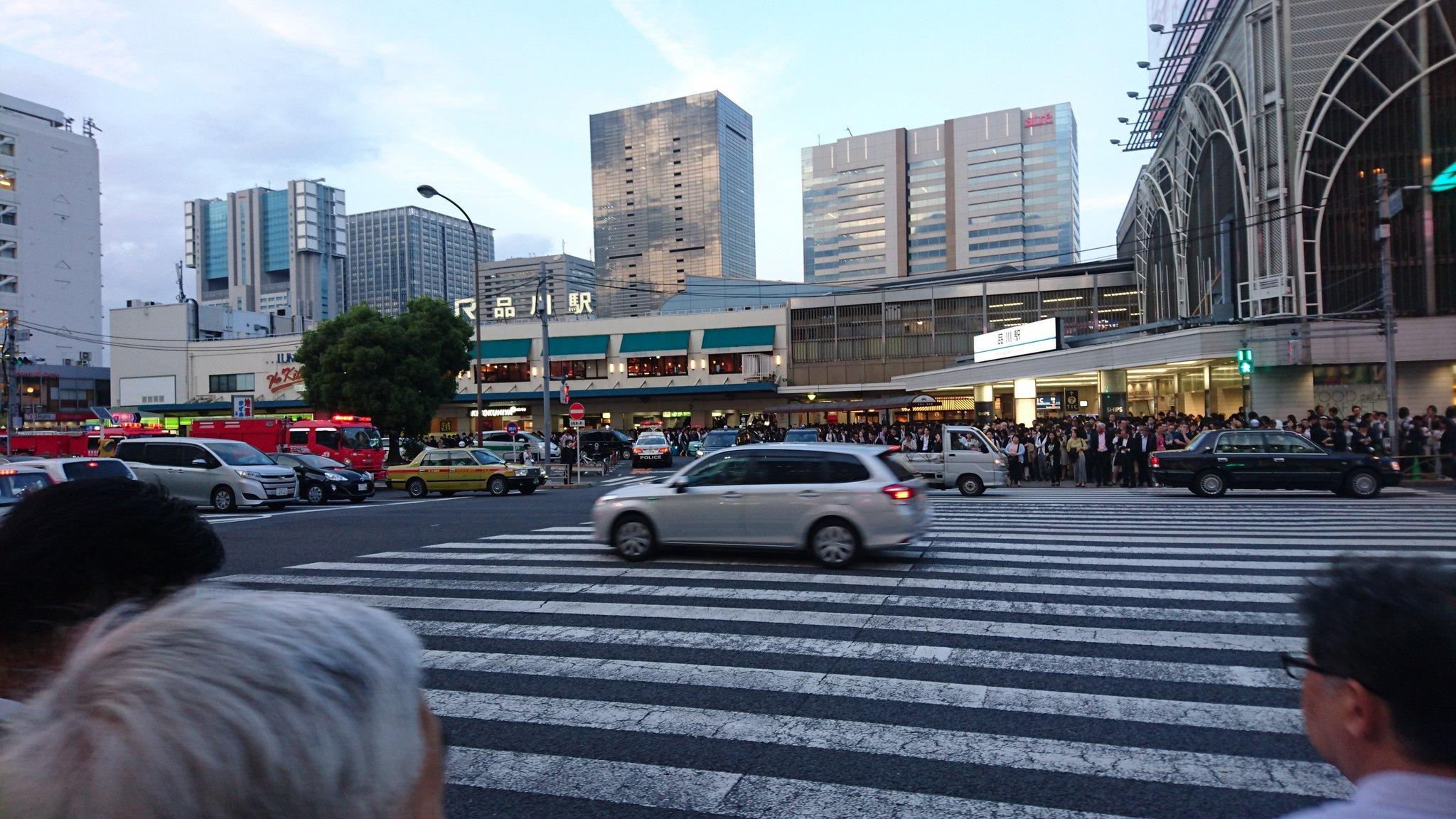 画像,品川駅大変な事に‼️東海道線人身事故の影響で、災害時みたいな事に‼️又、プリンスホテル側は、消防隊、レスキュー隊やらで、凄いことに‼️振替輸送たどり着けないもで…