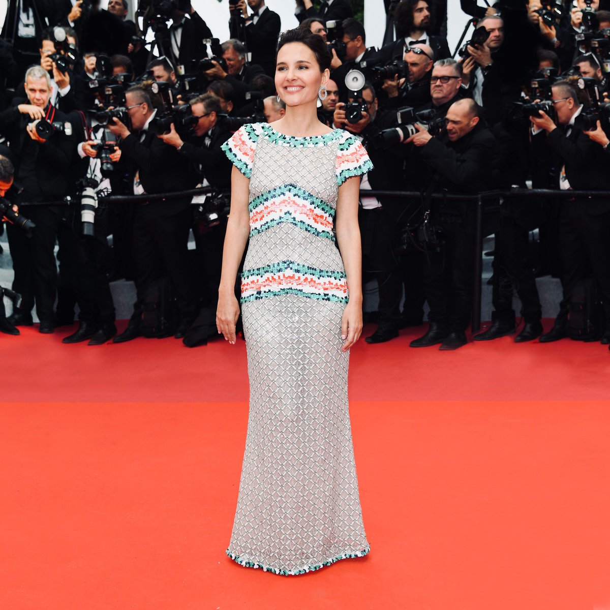#Cannes2019 opening night — Virginie Ledoyen, a friend of the House and president of the Queer Palm Jury, stepped out for the first night of the Cannes Film Festival on the French Riviera in a #CHANELCruise dress. #CHANELinCannes #CHANELinCinema