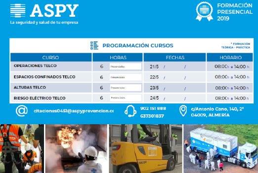 test Twitter Media - ¡Aquí os dejamos el calendario de cursos #TELCO en #Almería para los meses de mayo y junio!  ¡¡Apuesta por la formación de @ASPYPrevencion , la mejor #formación práctica!!  #prevención #PRL #saludlaboral #riesgoseléctricos #espaciosconfinados #trabajosverticales https://t.co/dn0XZsvDta