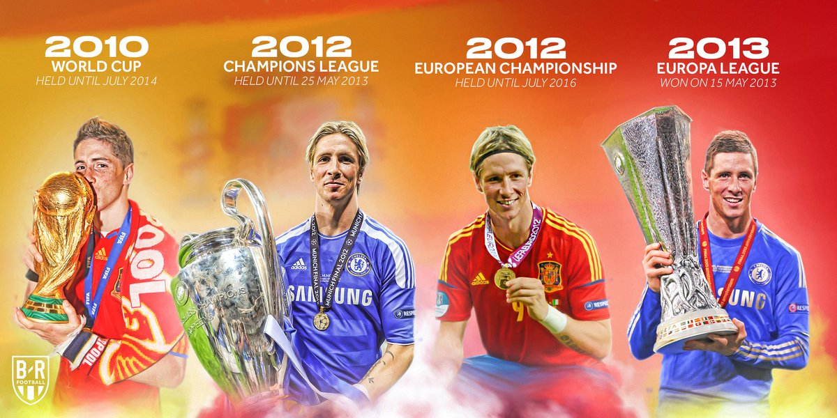 Six years ago today, Chelsea won the Europa League after winning the Champions League the season before. For the next ten days, @Torres was the current holder of the World Cup, Champions League, European Championship and Europa League 👏