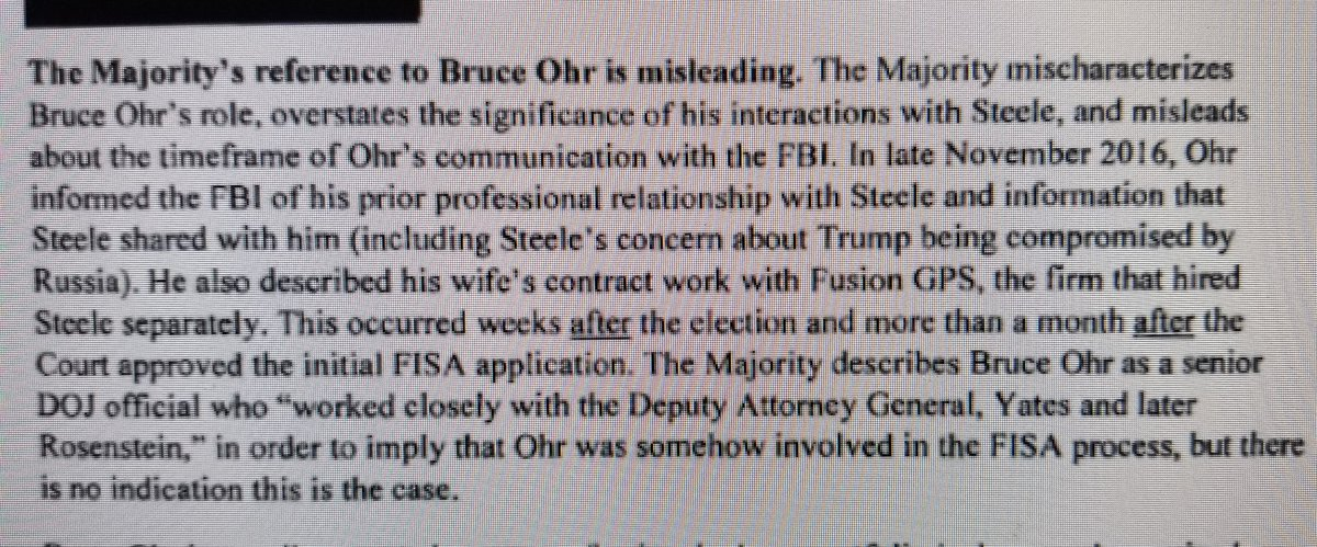 Can you investigate why Schiff lied in his Memo about Ohr's timeline with the FBI?  Schiff said Ohr first met with FBI in late Nov - after initial FISA.  He accused Nunes of misleading for saying it was before.  Ohr testified it was early August.  Memo page 7 - Testimony page 47