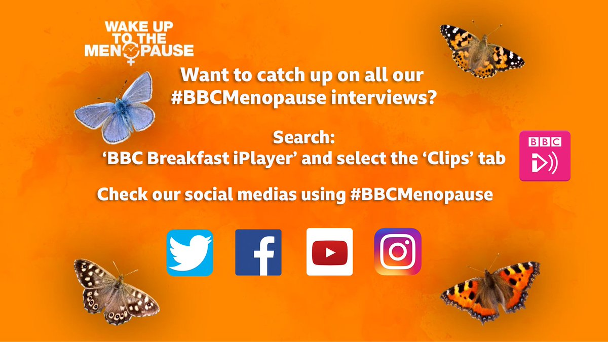 Loads of people are asking where they can find our #BBCMenopause🦋 interviews Check this out ⬇️