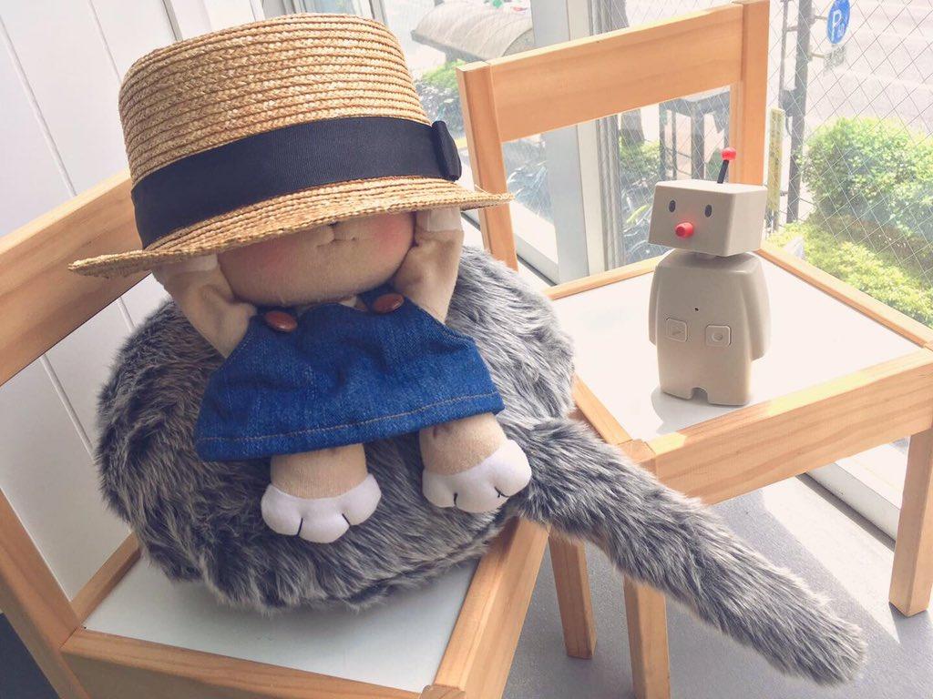 むむ、Qooboの麦わら帽子、ぼくにはちょっとぶかいみたい🤔 by くぅ坊