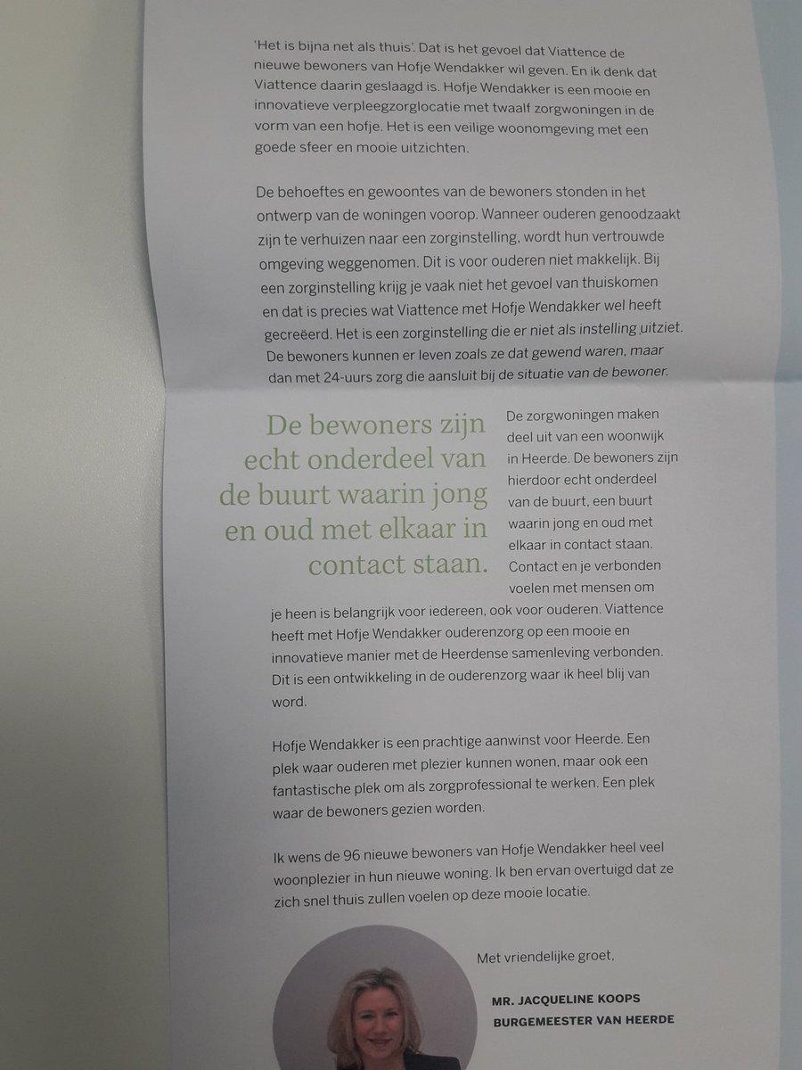Mooie trotse verhalen van @JacquelineKoops, huidige burgemeester en Jan de Boer, burgemeester in de jaren 90 over de nieuwbouwlocatie van @Viattence in de gemeente #Heerde.