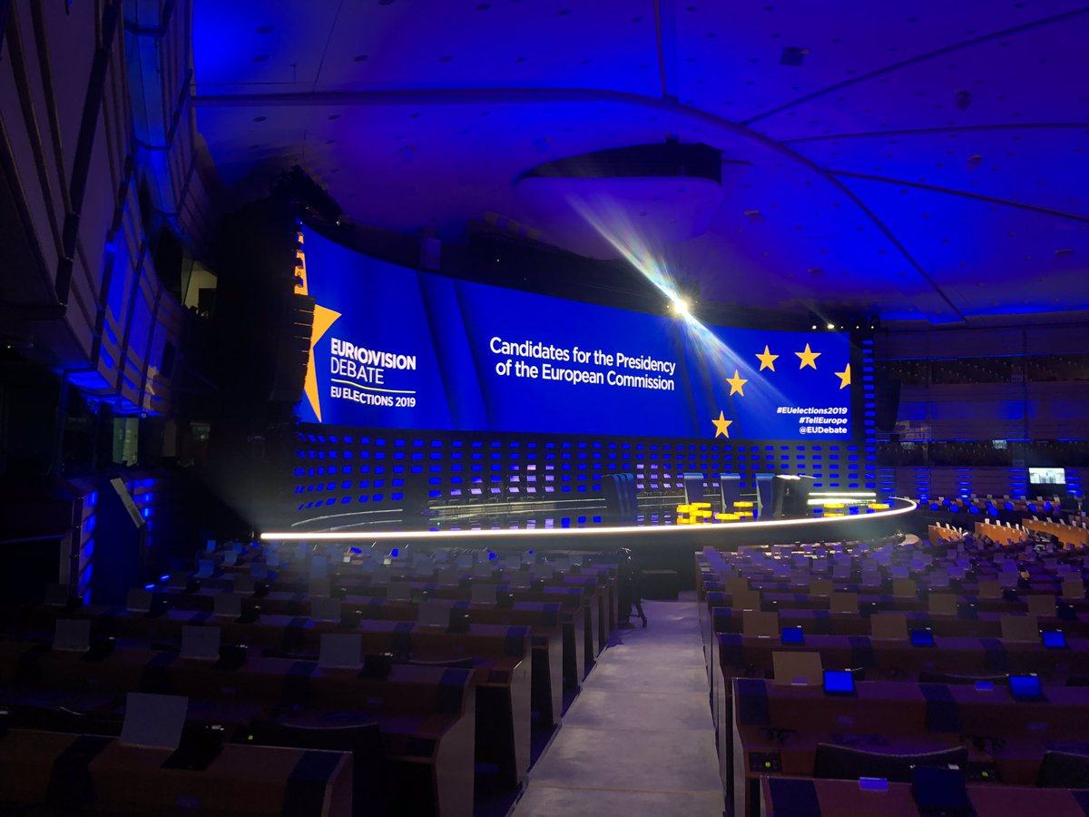 Wauw! What a stage for the @EUDebate tonight #tellEurope @TimmermansEU @SkaKeller @ManfredWeber @AvecNico @ZahradilJan Looking forward!