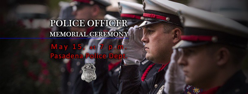 Pasadena Police Department's photo on Memorial Service