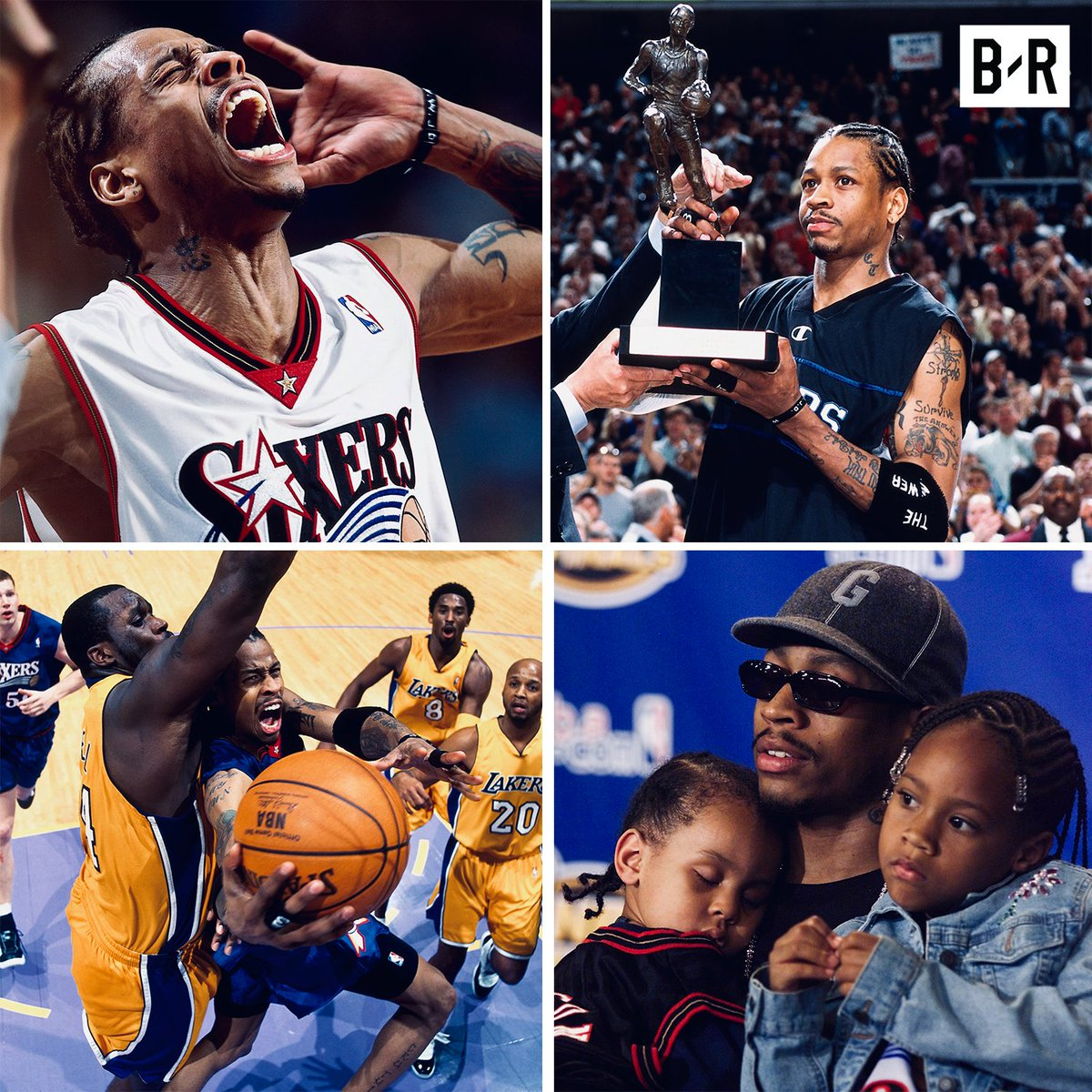 "18 years ago today, Allen Iverson was named MVP of the league  ■ First player since '92-93 Jordan to lead league in PPG (31.1) and SPG (2.5) ■ With 93/124 first-place votes, AI beat out Duncan and Shaq ■ At 6'0"" and 165 pounds, he's the shortest and lightest player to ever win"