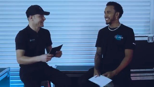 Favourite track? Candy or chocolate? 🍬🍫  @PUMA puts Lewis and Valtteri's knowledge of each other to the test! 😅