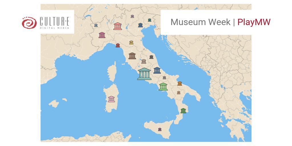 #MuseumWeek - Oggi per #PlayMW hanno giocato con i musei più di 6.3K utenti. Sono stati pubblicati 15.3K contenuti nel mondo, con oltre 57K interazioni. In Italia 🇮🇹 Lazio, Toscana e Campania le regioni con i musei più social. E domani un bel #RainbowMW 🌈dopo la pioggia!