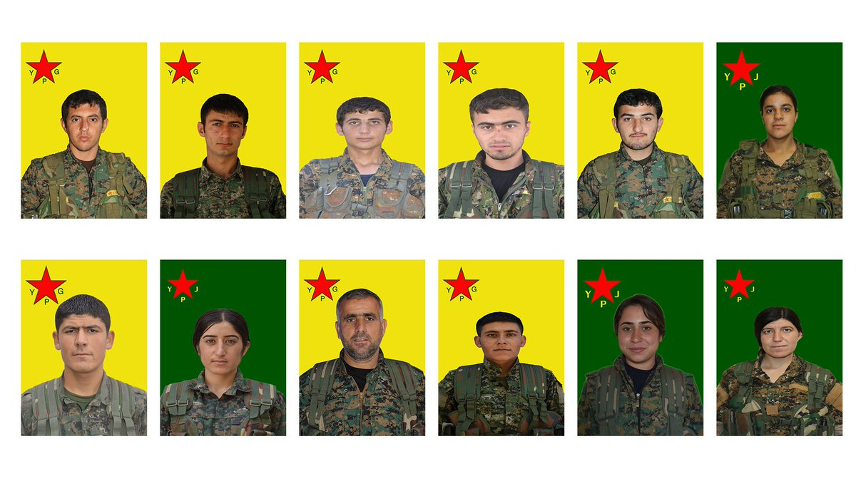 YPG, the #Syria affiliate of the PKK, released details of 12 more fighters killed last year in Afrin.  - Six in Raco between 19 Feb -  4 Mar - Two in Cinderes between 10 - 12 Mar - One in Bulbul on Mar 19 - Three others between 26 Feb - 15Mar <br>http://pic.twitter.com/Bve8j5JLVb
