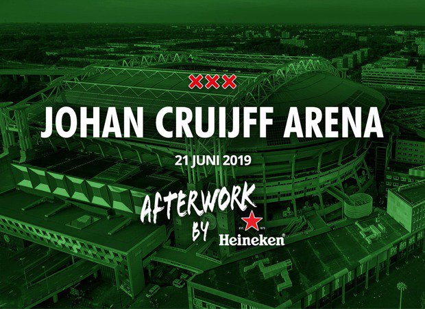 Het is de stad waar Heineken en de Johan Cruijff ArenA ooit werden geboren: MOKUM. 🙌🏼 Op vrijdag 21 juni zetten we tijdens Heineken Afterwork, samen met zes Amsterdamse clubiconen, de ArenA op z'n kop. Schrijf je snel in voor de gastenlijst 👉🏼 http://bit.ly/2LTWus2