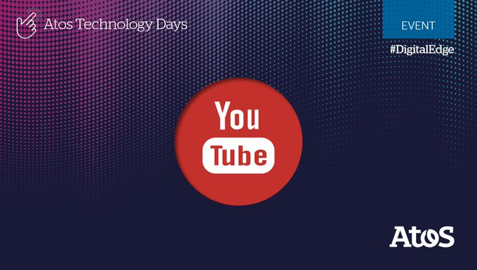 We will have a live stream from #AtosTechDays. Stay tuned and follow our YouTube...
