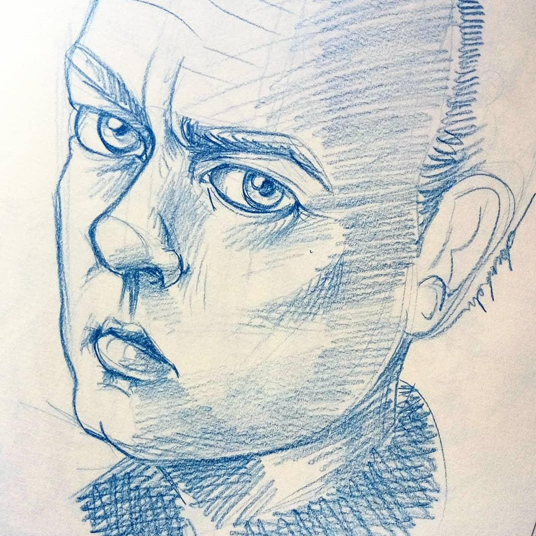 Portrait #dailyart #dailyillustration #portrait #face #look #stare https://t.co/PzwcyEMZQ2