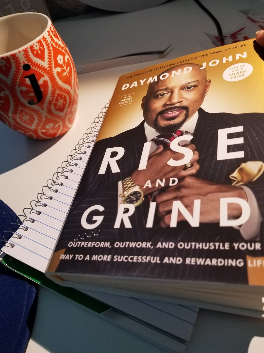 Nothing better than morning coffee and not just any book. This Book #riseandgrind @TheSharkDaymond<br>http://pic.twitter.com/lZkwFtnIKi