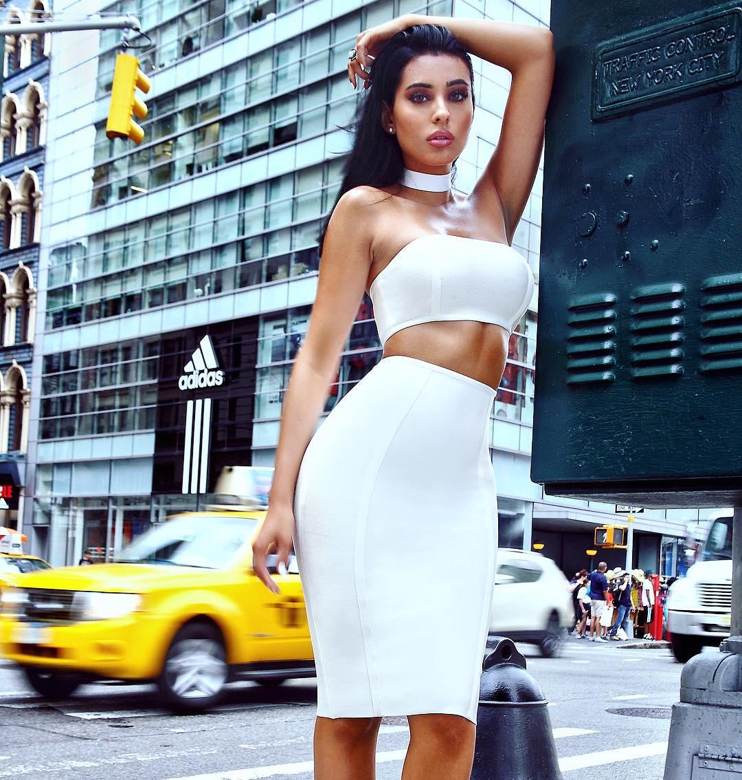 539e39155c8 choker twopiece whitedress dress nyc manhattan happybirthday LHHNY  beautiful shopping win stylegram. WHITE HOT!