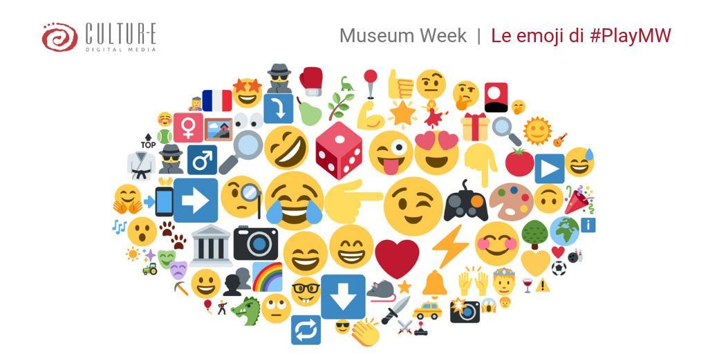 #MuseumWeek - Per la giornata dedicata a #PlayMW i musei si sono divertiti a giocare anche con le emoticons🤪: ecco quelle più utilizzate finora ⬇️