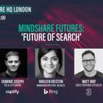 Tomorrow, @Captify's @domjoz joins a stellar panel from @mindshare_uk, @bing & @ThreeUK to debate emerging trends in search & how brands can thrive in the ever-evolving landscape @ChrisCamachoSMG @RavBeest @lexiefaulkner @MattMayPPC #MSFOS #voicesearch #mindsharefutures