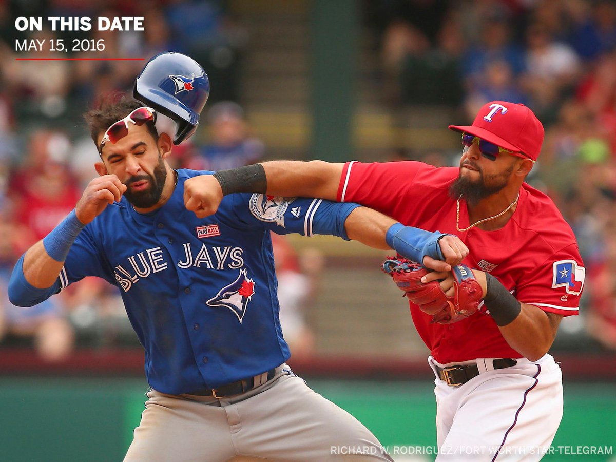 On This Date: Rougned Odor punched Jose Bautista and sparked an infamous brawl in Arlington.