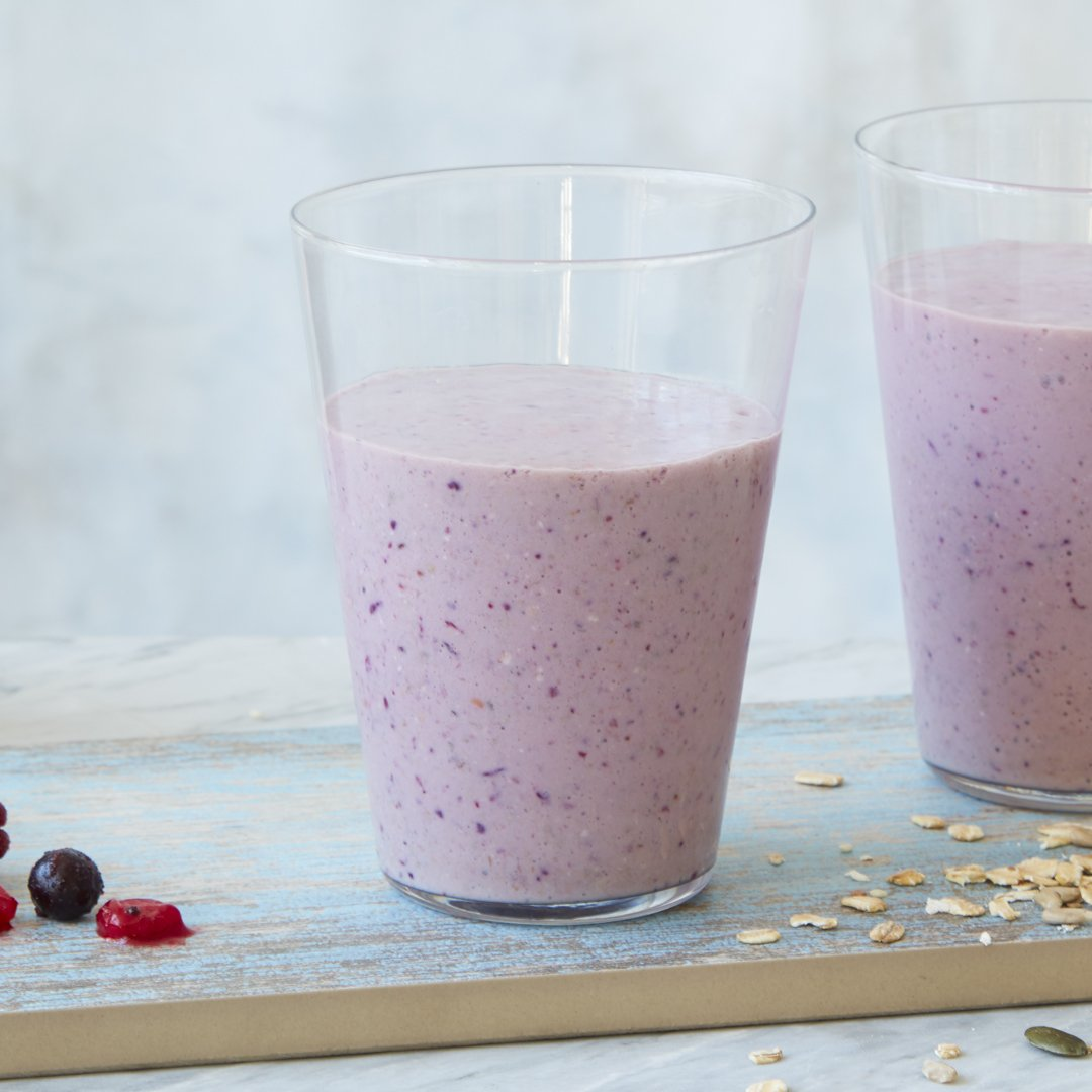 Keep frozen berries on standby for an emergency special breakfast. https://www.bbc.com/food/recipes/berry_banana_smoothie_16261…