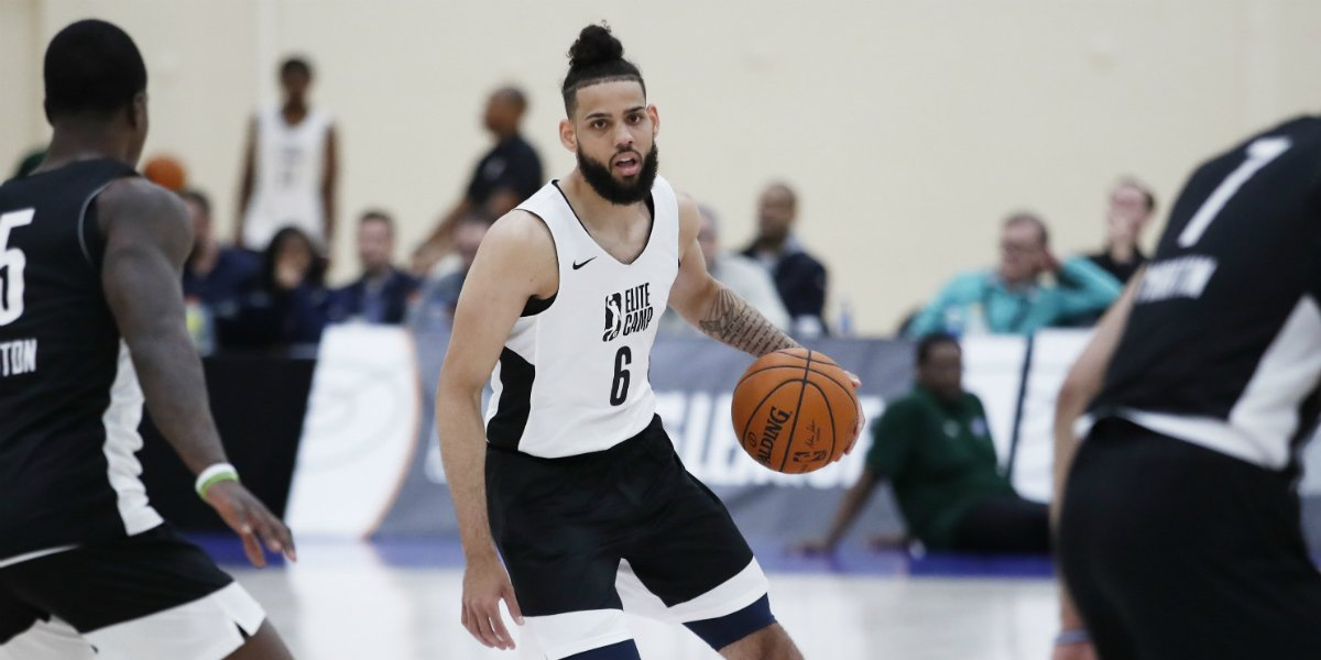 10 players advancing to NBA Draft Combine, after being recognized as top performers at G League Elite Camp by vote of NBA teams:  Terence Davis Dewan Hernandez Oshae Brissett Reggie Perry DaQuan Jeffries Tyler Cook Jared Harper Marial Shayok Tacko Fall Cody Martin Terance Mann <br>http://pic.twitter.com/1NZH7SDJnf