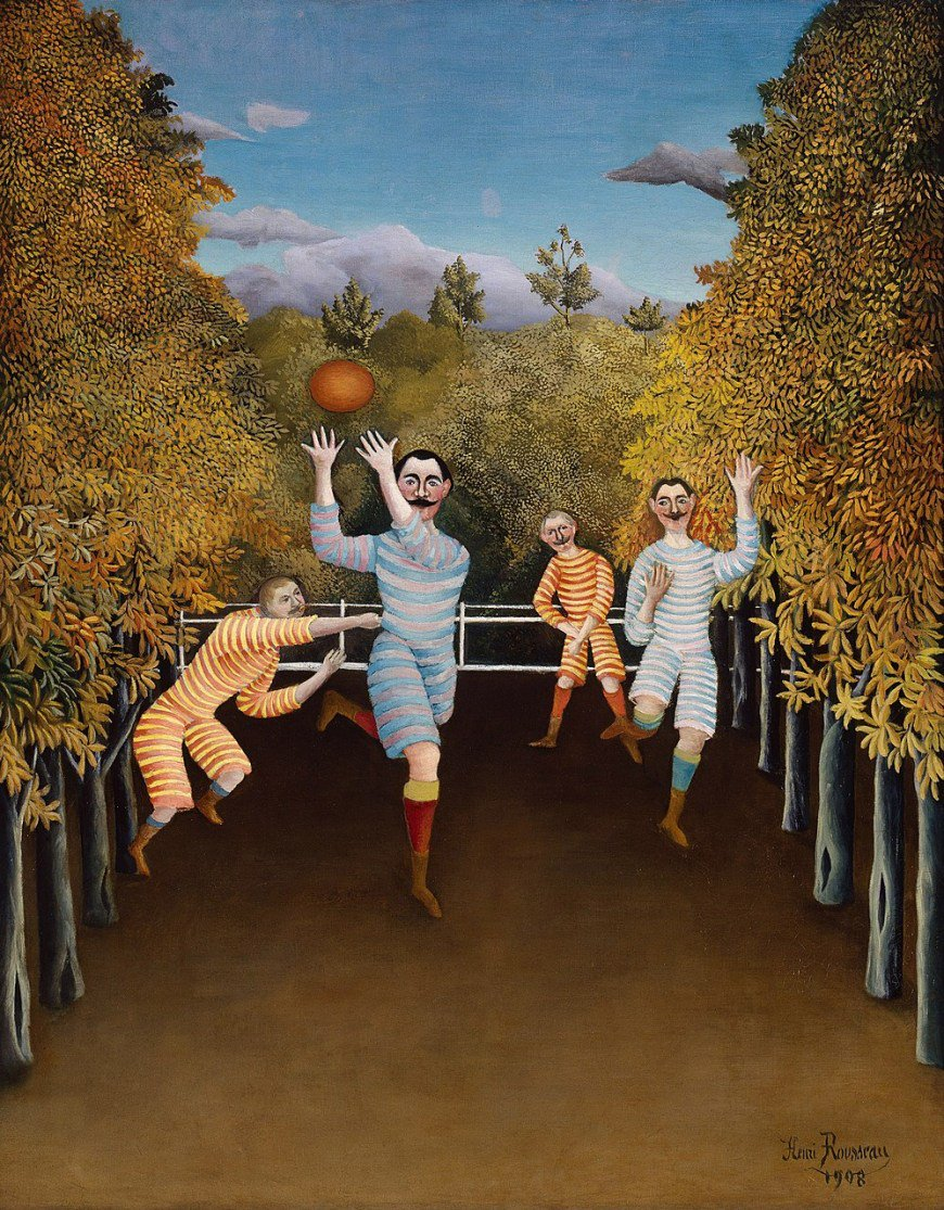 #HenriRousseau&#39;s &quot;The Football Players&quot; (1908) are ready for today&#39;s #MuseumWeek theme! #PlayMW  https:// gu.gg/2W1ojT9  &nbsp;  <br>http://pic.twitter.com/88cyncdt4F