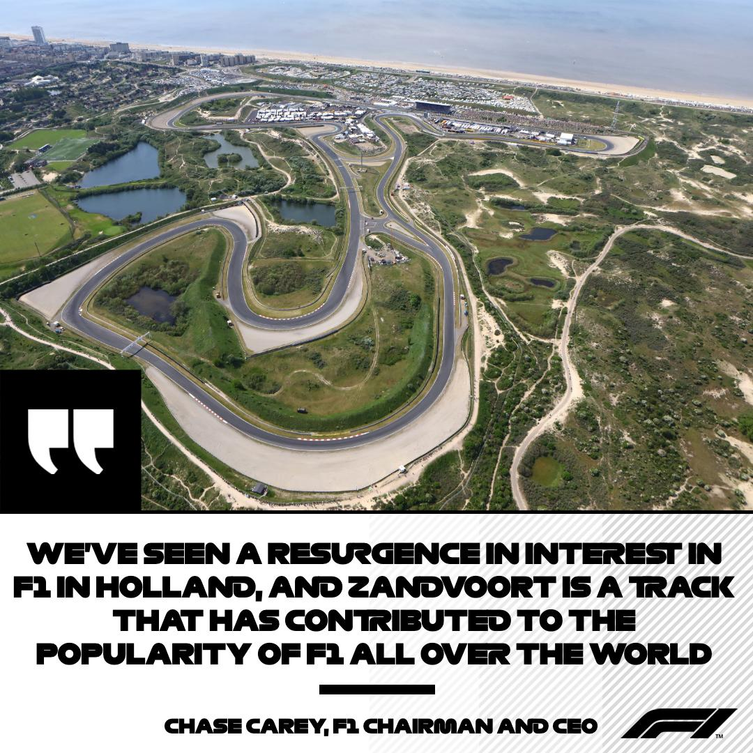 It's about the past, present and future of our sport  F1 Chairman and CEO Chase Carey on Zandvoort's return to the F1 calendar in 2020 👀⬇️  #F1 #DutchGP