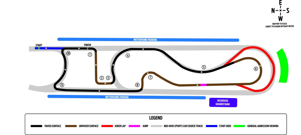 🚨The Cooper Tires ARX of Mid-Ohio track map is here! 🚨 @ARXRallycross will be racing in the Keyhole. Check it out: midohio.com/info/facilitym…