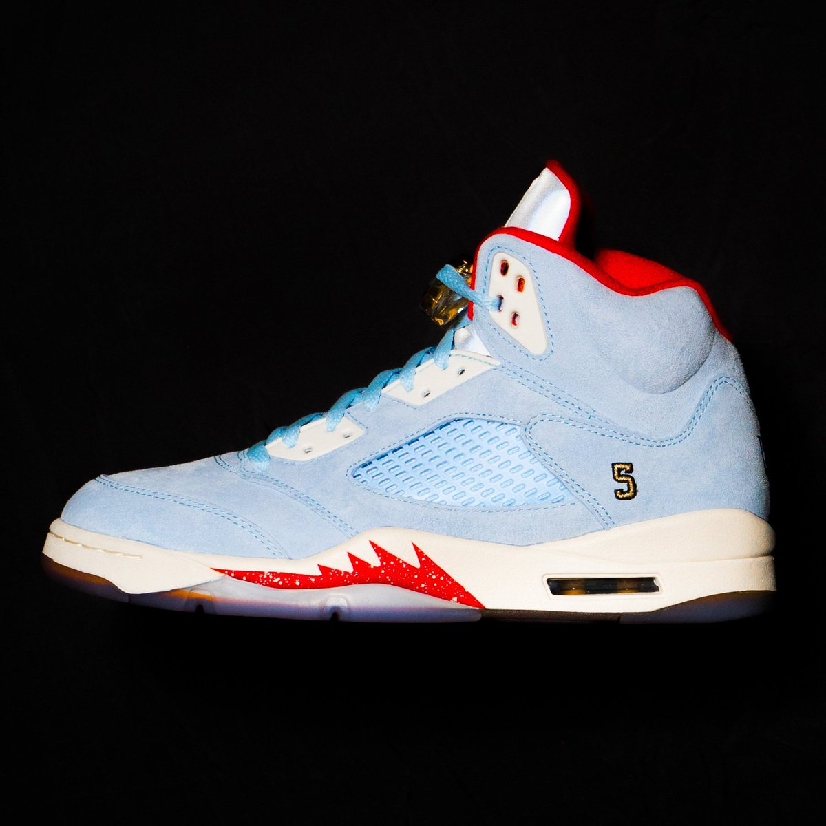 """67f0d1fe2d80 TrophyRoomStore x Jordan 5 Retro """"Ice Blue"""" official images Limited to  7"""