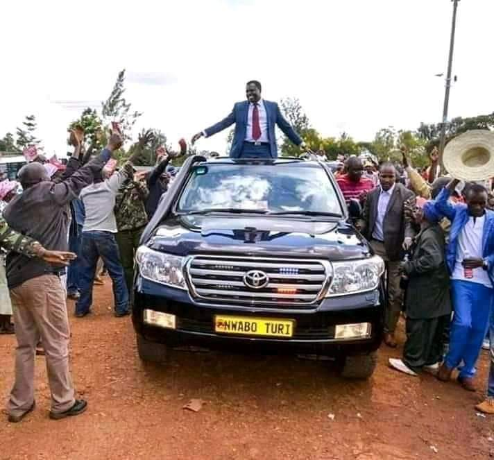 How Tharaka Nithi Governor Muthomi Njuki rolled in to launch a toilet the size of a matchbox.