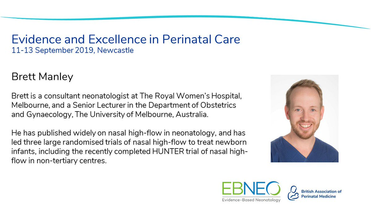 Join in the discussion in advance of Evidence and Excellence by using #BAPMEBNEO.   What are you most looking forward to about the conference? Is it hearing from @drbretty, all the way from Melbourne, to talk about nasal high-flow in neonatology?  @EBNEO #BAPM2019 #EBNEO2019