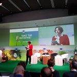 Great opening session and a lot of quality content at the exhibition of #EUGreenWeek. We joined forces with other programmes and have a stand showcasing @Interreg_eu results, including of the #climatechange network.  @InteractEU