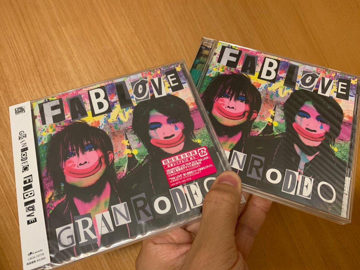GRANRODEO新アルバム「FAB LOVE」発売ッ!!幸せなことに、谷山さんから直接頂いたCDと、予約していて今日届いたCDとッ!!是非<●><●>
