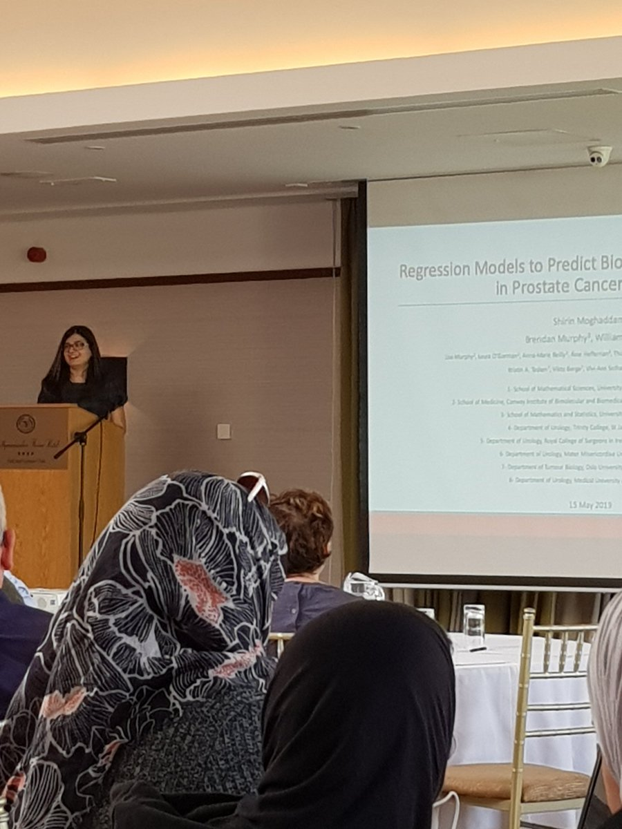 Our Secretary Shirin Moghaddam is now presenting her work on &#39;Logistic regression models to predict biochemical reoccurence in prostate cancer patients&#39; #CASI2019<br>http://pic.twitter.com/tfUGxPNgn7