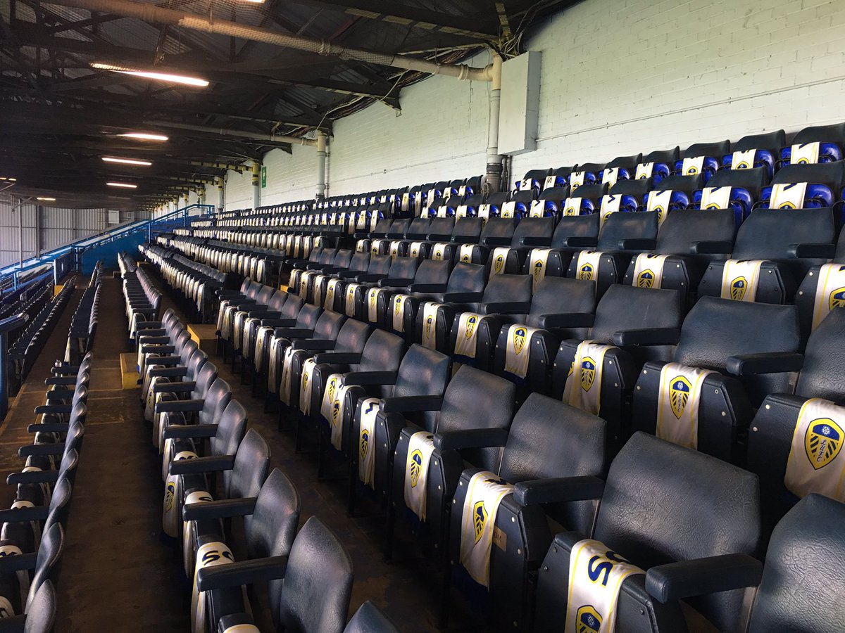 scarves on every seat. Has taken the club all day.