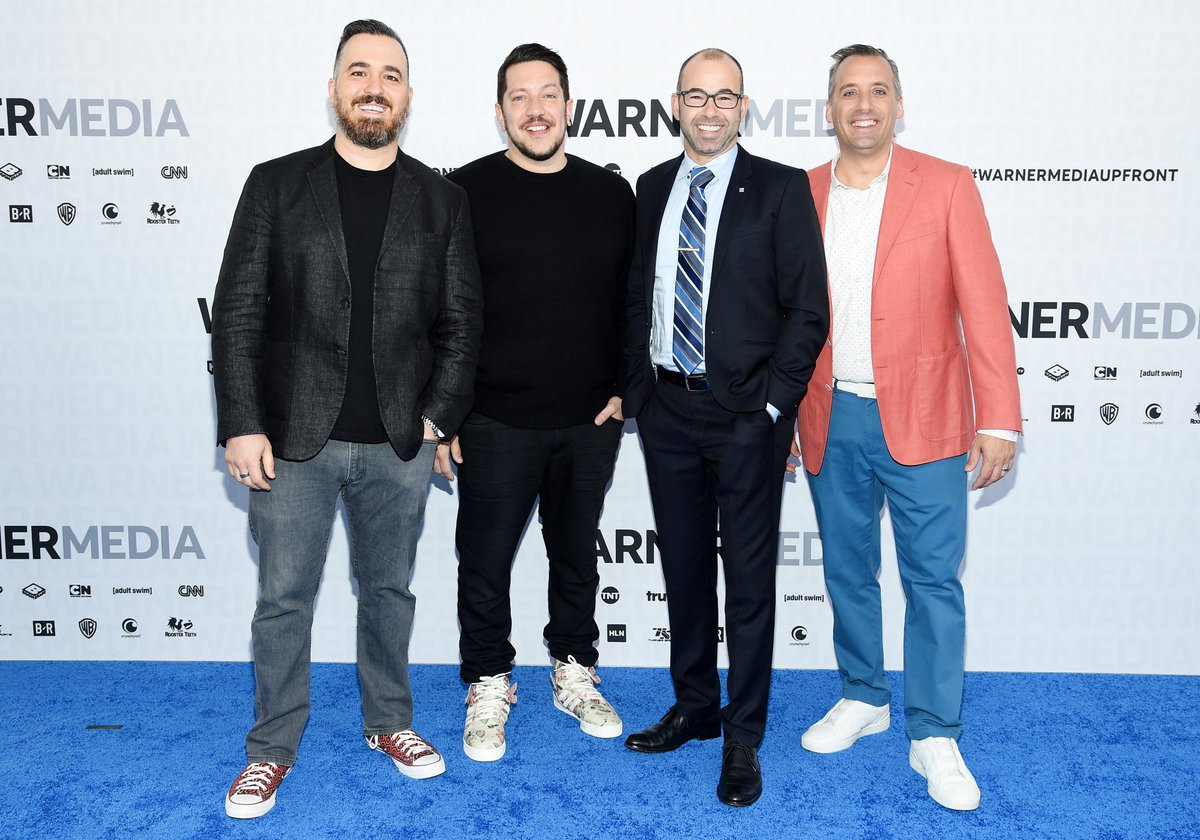 The @truTVjokers and @TeamCoco collide on the blue carpet! #WarnerMediaUpfront #ImpracticalJokers #Upfronts2019<br>http://pic.twitter.com/yVOqobrqXp