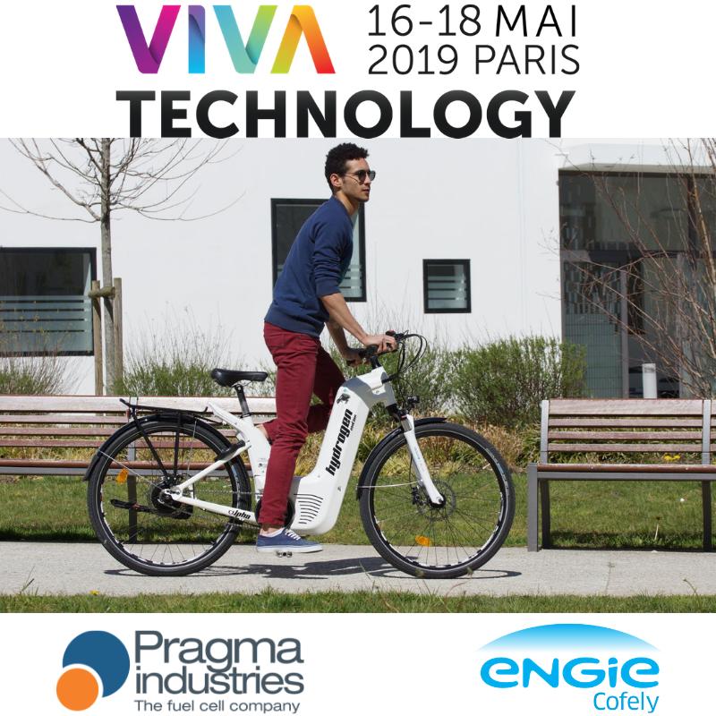 Les #veloH2 de @PragmaFuelCells sont arrivés à @Paris Expo Porte de Versailles pour participer dès demain au salon @VivaTech aux côtés d'@ENGIE_CofelyFR  RDV au #Mobility Parc d'ENGIE. #VivaTech  #hydrogen #technology #innovation #H2Now #H2bike #Wasserstoff #SmartMobility  #velo