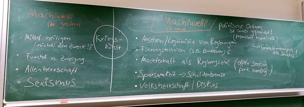 test Twitter Media - Spannende Diskussion heute in der #PolitischeTheorie Übung @UniBremen: #Machiavelli für heute & für gestern. Wie aktuell kann ein fast 500 Jahre alter Text sein? Schön, dass man auch im BA #Politikwissenschaft was von Studierenden lernen kann #powi #lehre #powilehre @InIIS_Bremen https://t.co/RGNvQPItMw