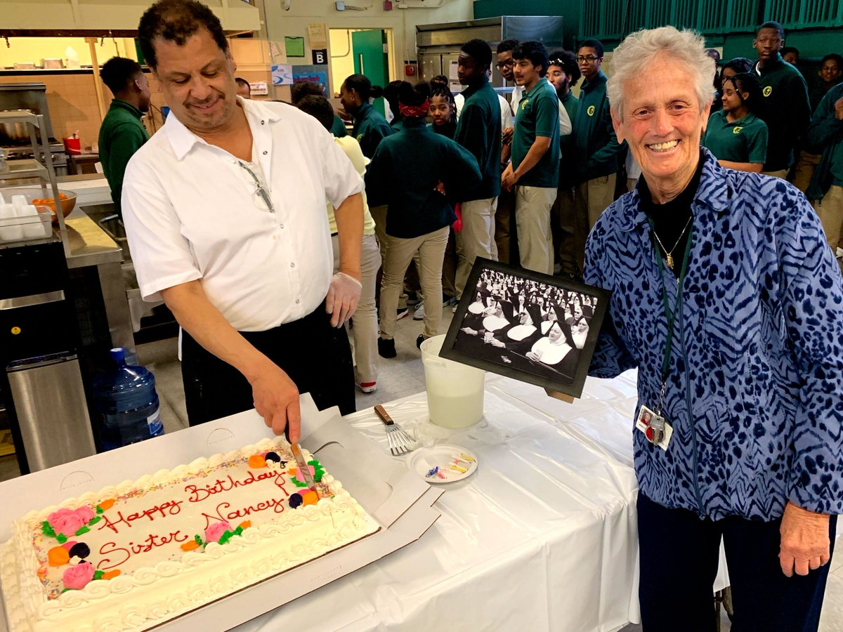 test Twitter Media - Happy 80th Birthday to Sister Nancy Brennan, CSJ!   Students and staff at Cathedral High School celebrated Sister Nancy's 80th birthday with festivities including cake for everyone. Ad multos annos, Sister! https://t.co/RYiVZ7PwGx