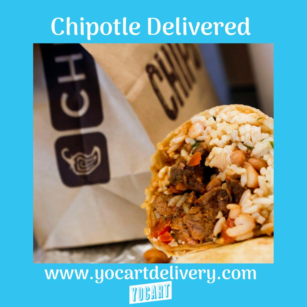 Have your lunch delivered. 🌯 #chipotledelivery #tuscaloosa #yocart #burritosdelivered #yocartdelivery #fooddelivery