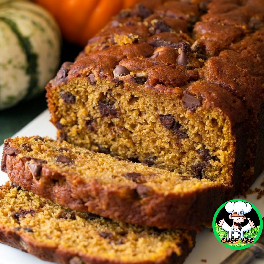 CHEF 420s Pumpkin chocolate chip bread- one of my favorites, pumpkin and chocolate seems like a strange combo to me but they are great together    https://bit.ly/2CsrMzD      #Chef420 #Edibles #CookingWithCannabis #CannabisRecipes #InfusedRecipes  #Happy420 #420Eve #420day