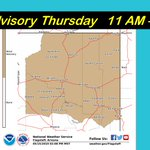 Image for the Tweet beginning: A Wind Advisory is in