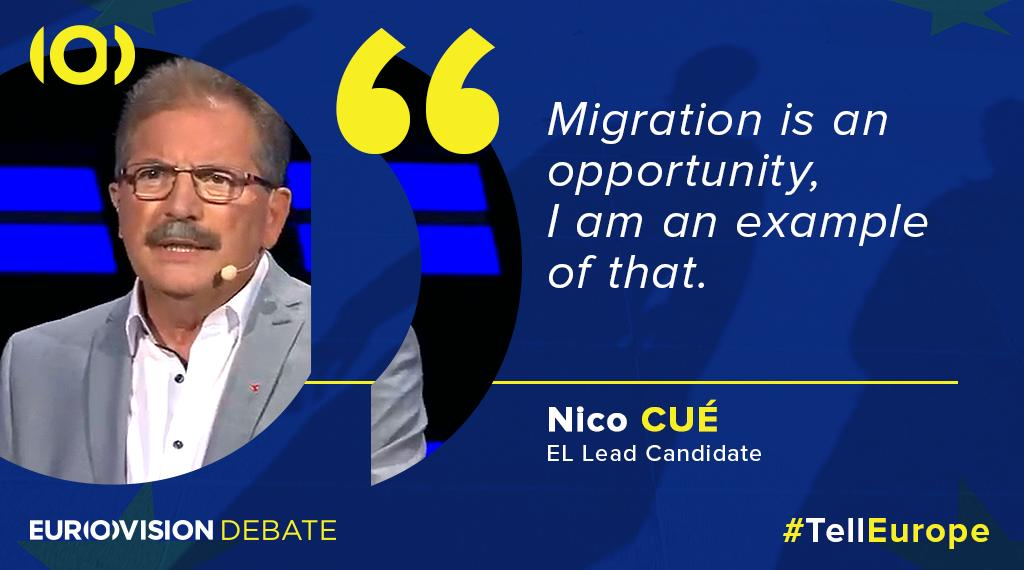 #Migration is an important topic & lead candidate @AvecNico believes its an opportunity for the #FutureofEurope. #TellEurope
