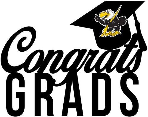 Congrats Grads! Make sure you are aware of all of the graduation activities. We are #cloudproud of you.