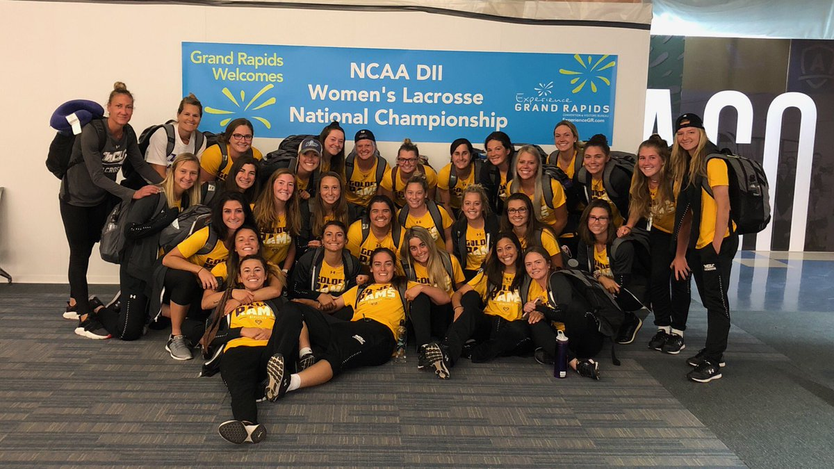 WLAX: West Chester lacrosse lands in Grand Rapids for NCAA D2 National Semifinals.
