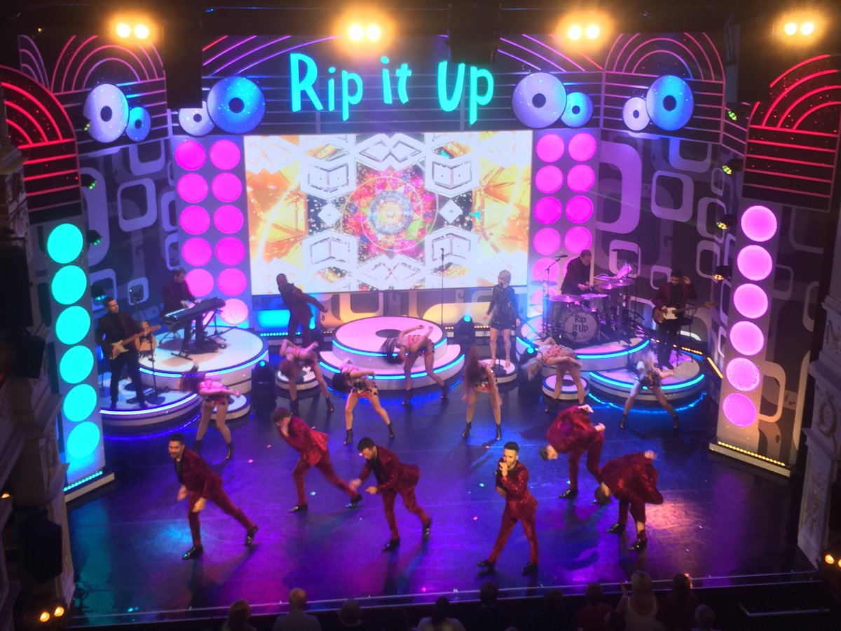 Just enjoyed an evening of high energy and extreme talent ⁦@RipItUpTheShow⁩ featuring ex Lilleshall gymnast & Strictly's #LewisSmith alongside #JayMcguiness #AstonMerrygold & #HarryJudd backed by a brilliant group of dancers, singers & band. A great night out.