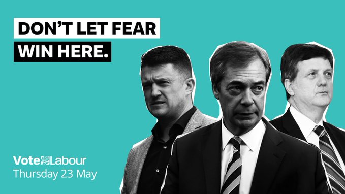 Labour put this poster out today on their twitter calling 5 million of their voters far right?