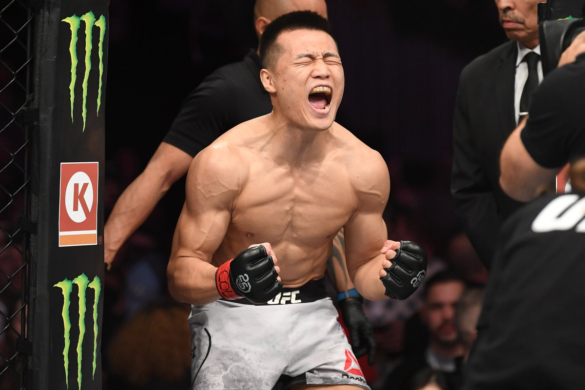 * Queue the walkout music *  🇰🇷 @KoreanZombieMMA is back in a month!  Tickets are on sale NOW for #UFCGreenville ➡️ https://t.co/Hy3MF8eRQc  ⬅️ https://t.co/9GqNQHcxvN