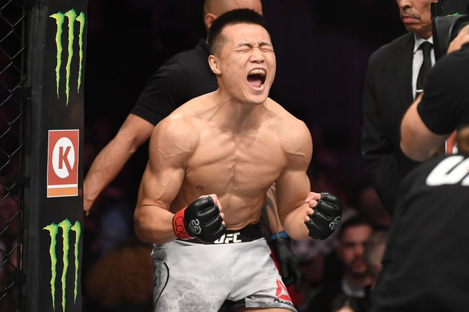 * Queue the walkout music *  🇰🇷 @KoreanZombieMMA is back in a month!  Tickets are on sale NOW for #UFCGreenville ➡️ https://t.co/Hy3M